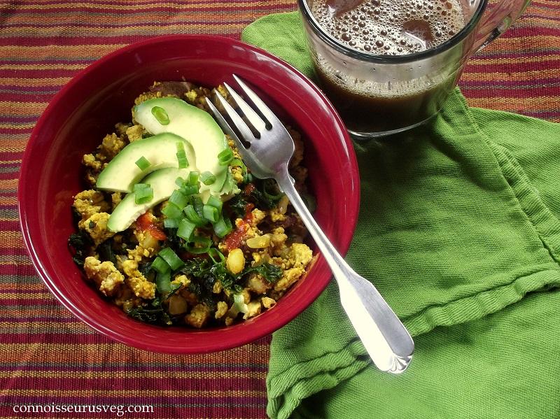 Savory Tofu Scramble with Kale & Crispy Potatoes