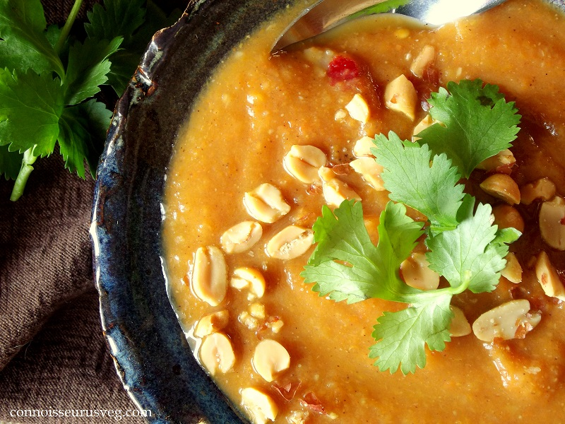 Gingery Carrot Stew with Peanuts and Cilantro