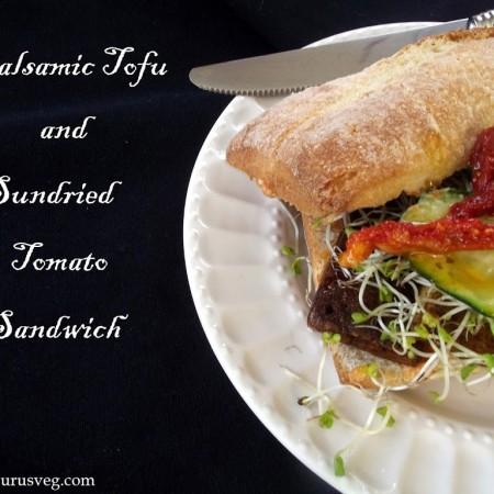 Balsamic Tofu Sandwiches with Sundried Tomato