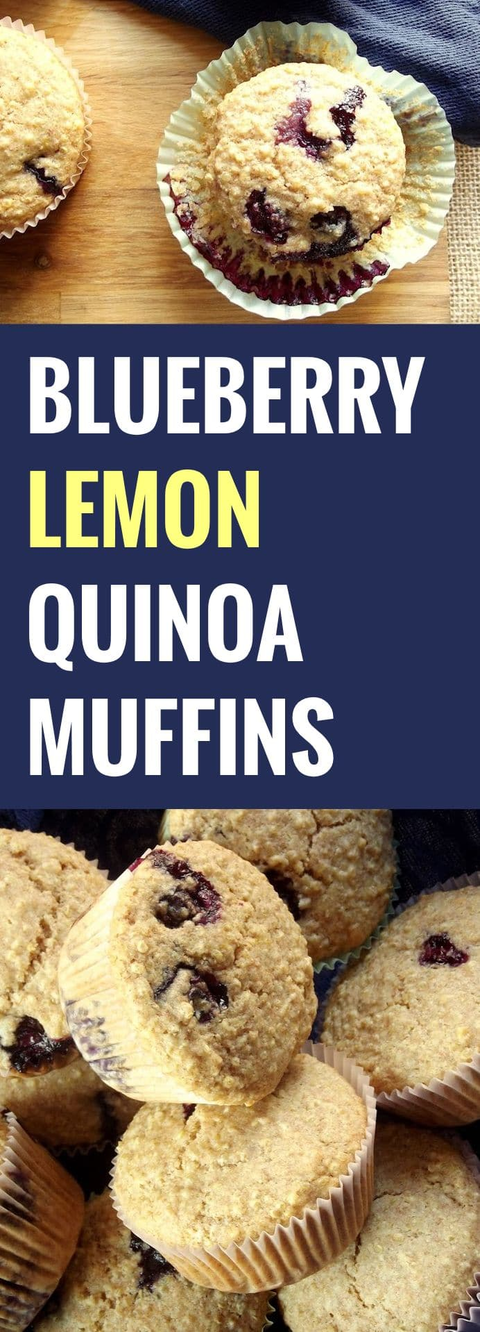 Blueberry Lemon Quinoa Muffins