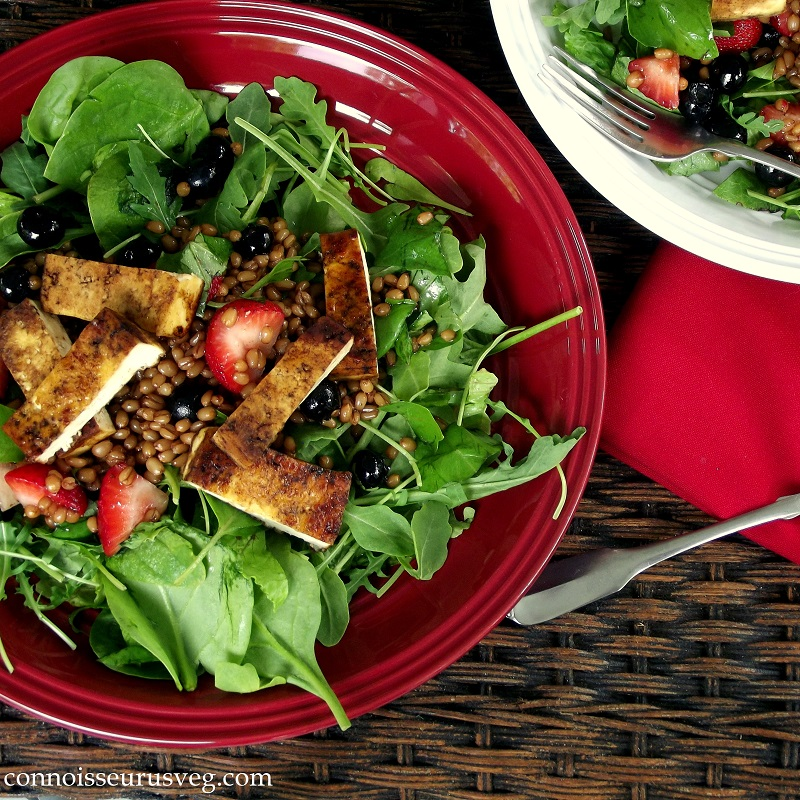 Balsamic Summer Berry + Wheat Berry Salad