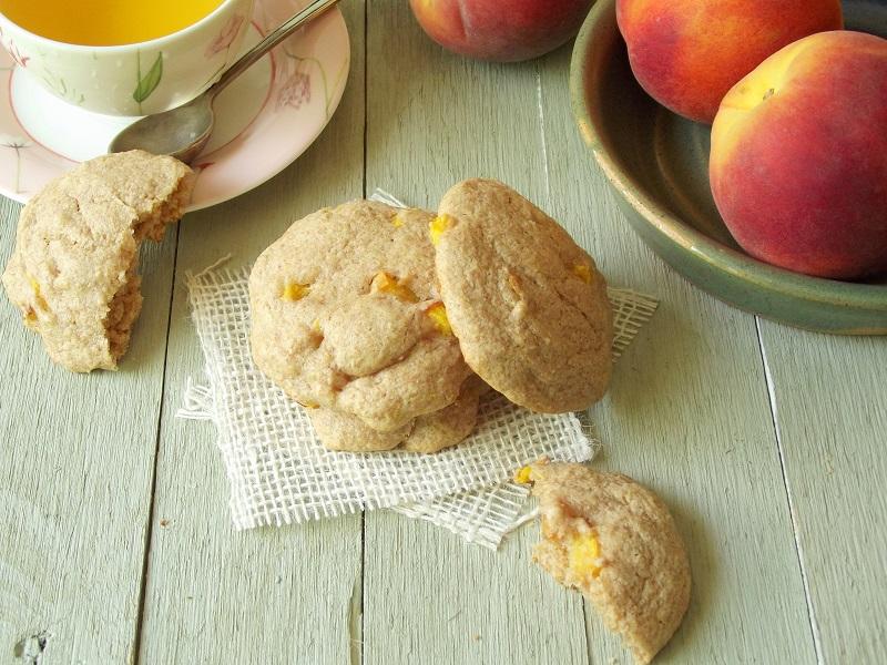 Vegan Ginger Peach Scones