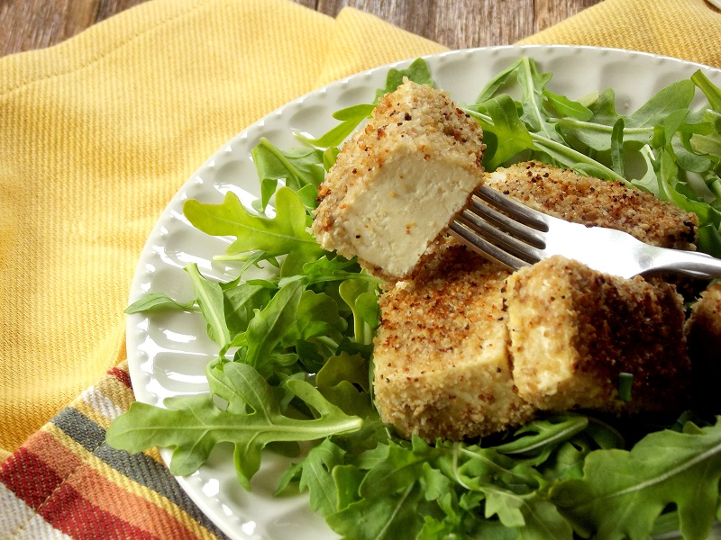 Sunflower Seed Crusted Tofu