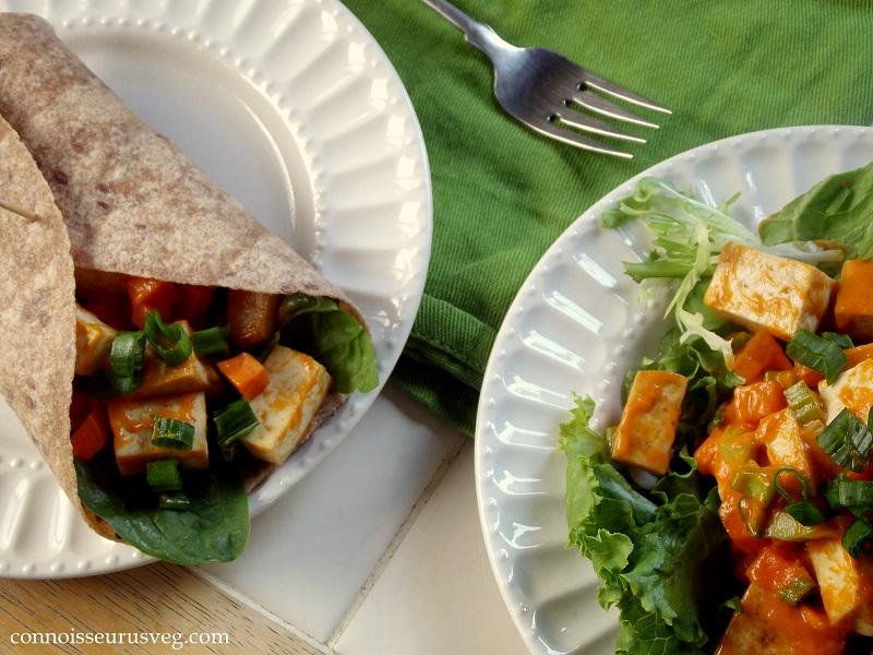 Buffalo Tofu Salad