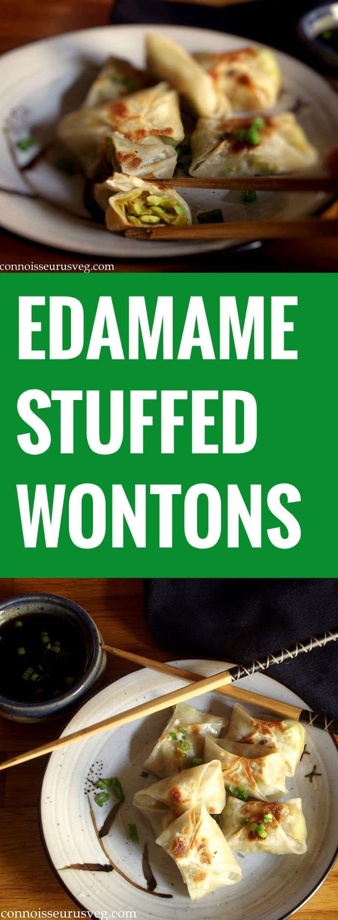 Chunky Edamame Wontons