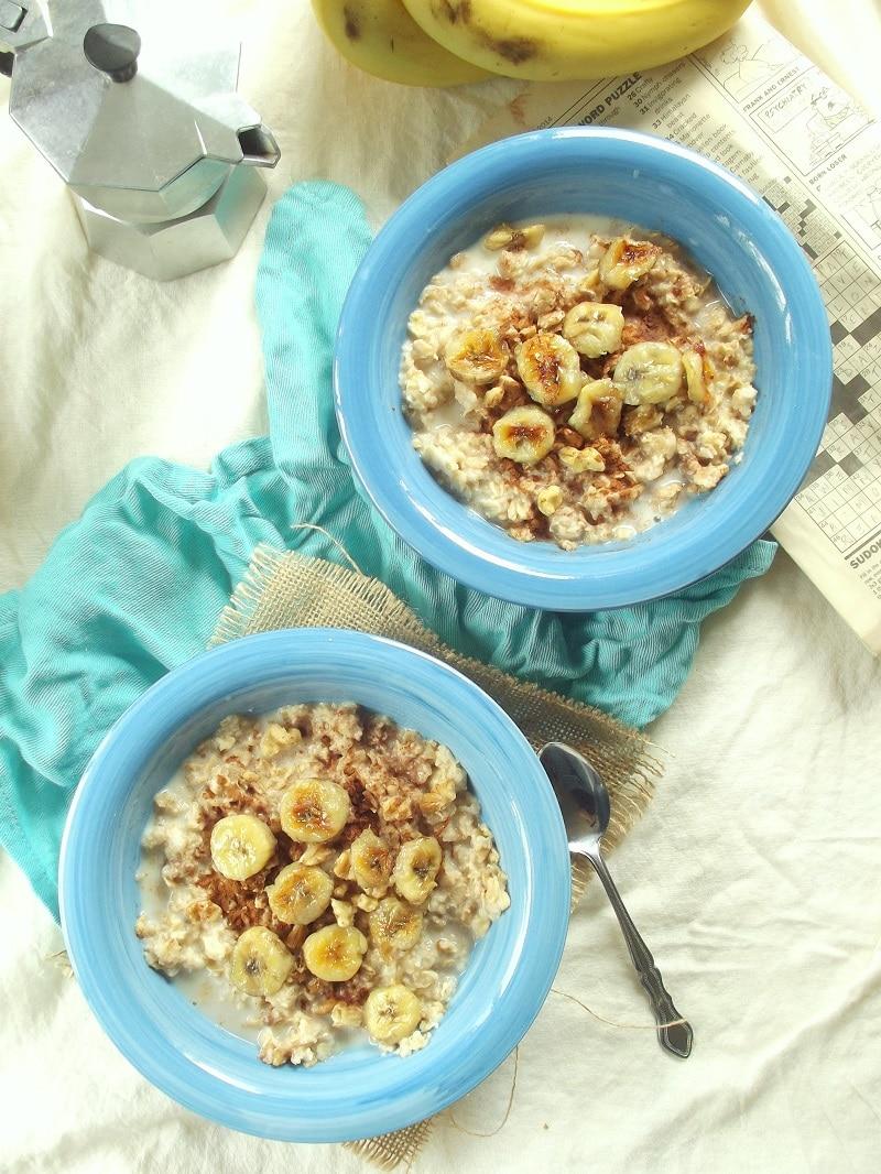 fried banana oatmeal portrait