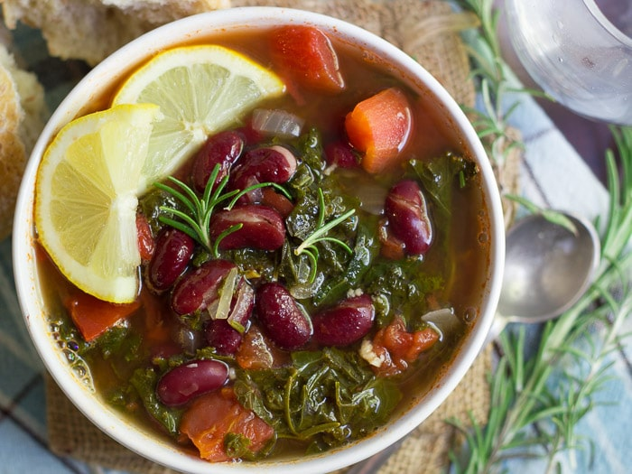 Rosemary Red Bean Kale Soup