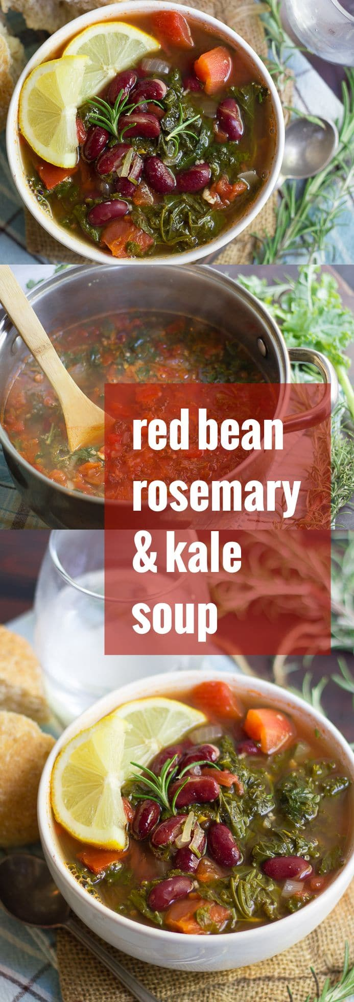 Rosemary Red Bean and Kale Soup