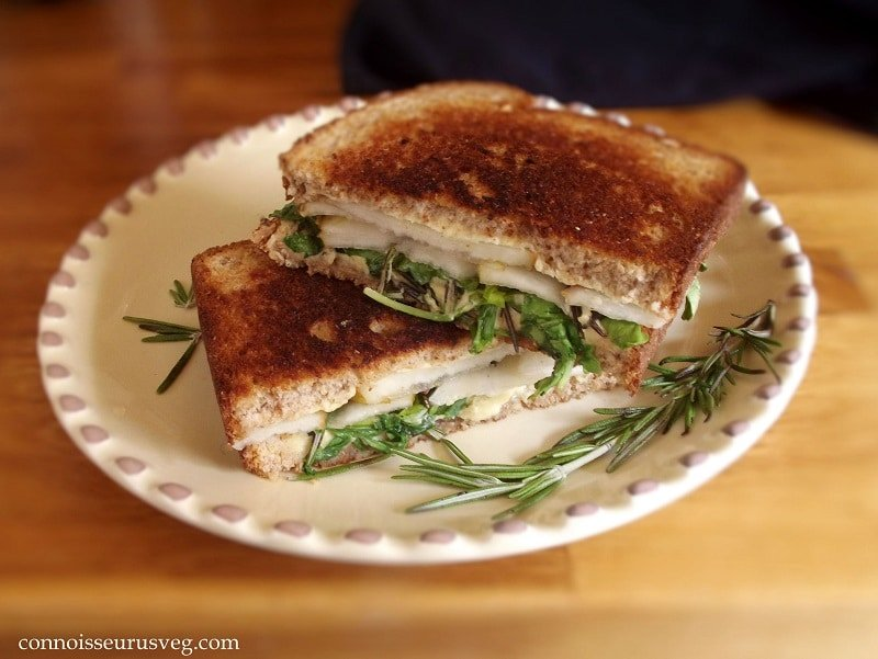 Vegan Pear, Rosemary and Brie Panini