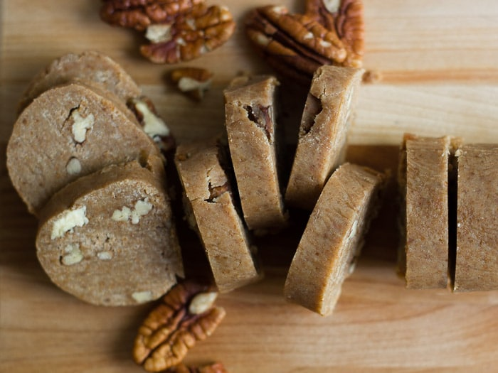 Vegan Pecan Shortbread Cookies