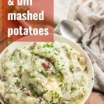 Mashed Red Potatoes with Roasted Garlic & Dill