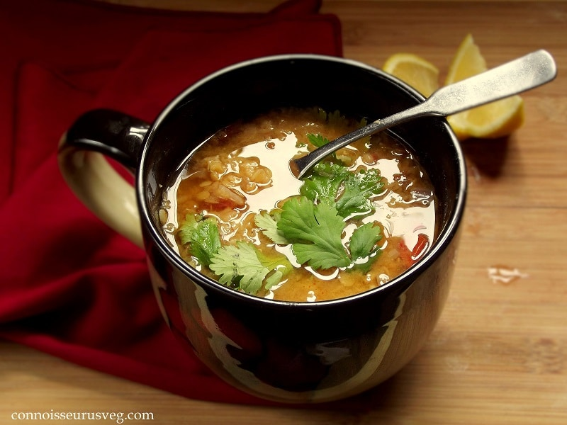 Mediterranean Red Lentil Soup