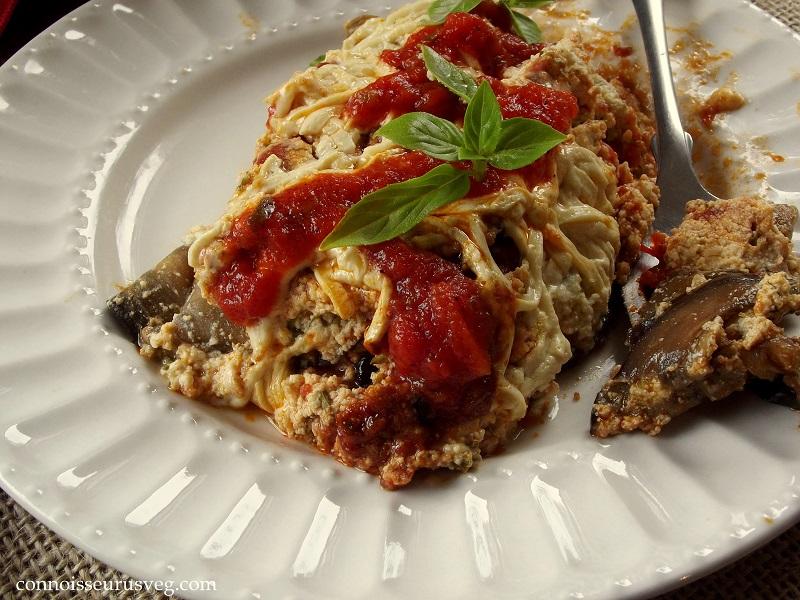 Skillet Vegan Eggplant Lasagna