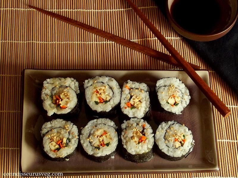 Veggie & Smoky Tofu Sushi