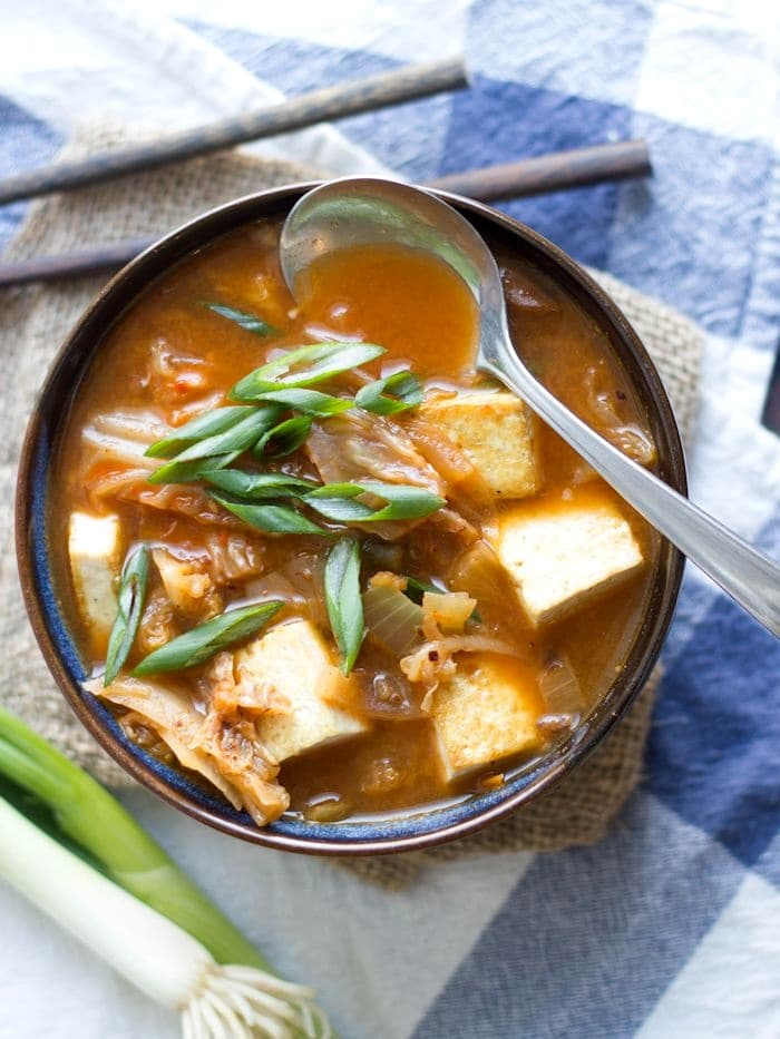 vegetarian kimchi soup