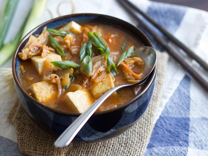 Kimchi Stew with Tofu and Shiitakes - Connoisseurus Veg