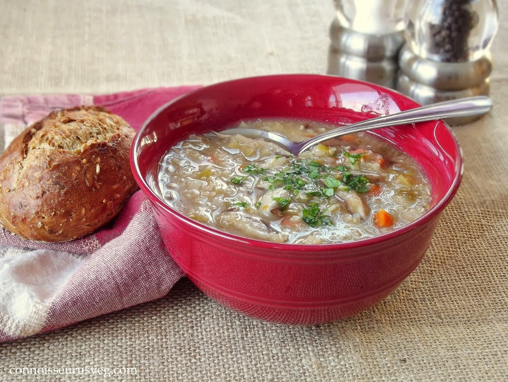 Shiitake Leek Soup with Quinoa