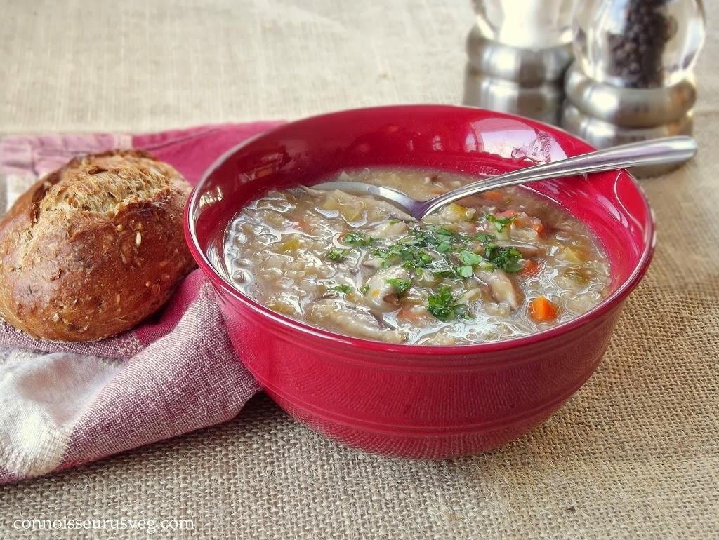 Shiitake Leek Quinoa Soup