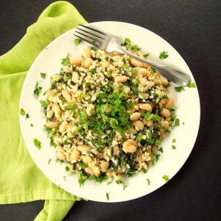 Cannellini Bean and Broccoli Rabe Risotto