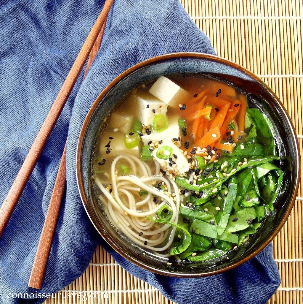 Soba Miso Tofu Soup
