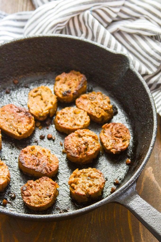 Vegan Breakfast Sausage - Connoisseurus Veg
