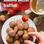 Coconut Almond Butter Vegan Truffles