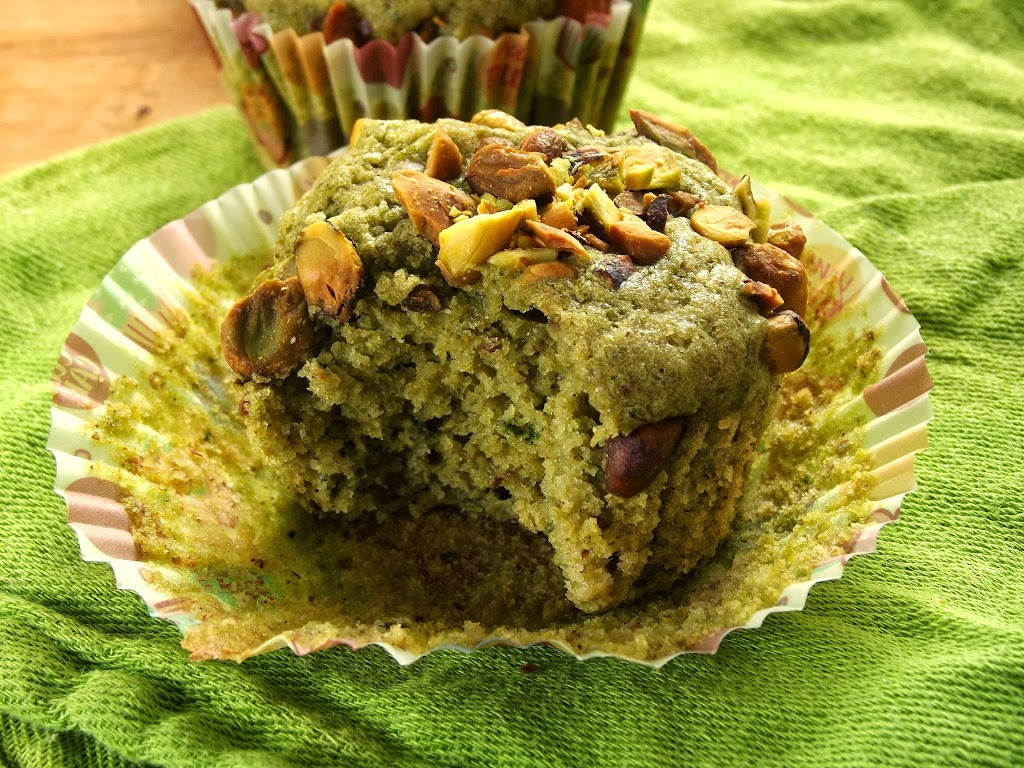 Pistachio Green Tea Muffins