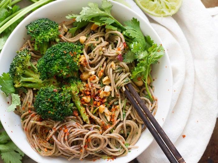Cilantro Peanut Soba Noodles