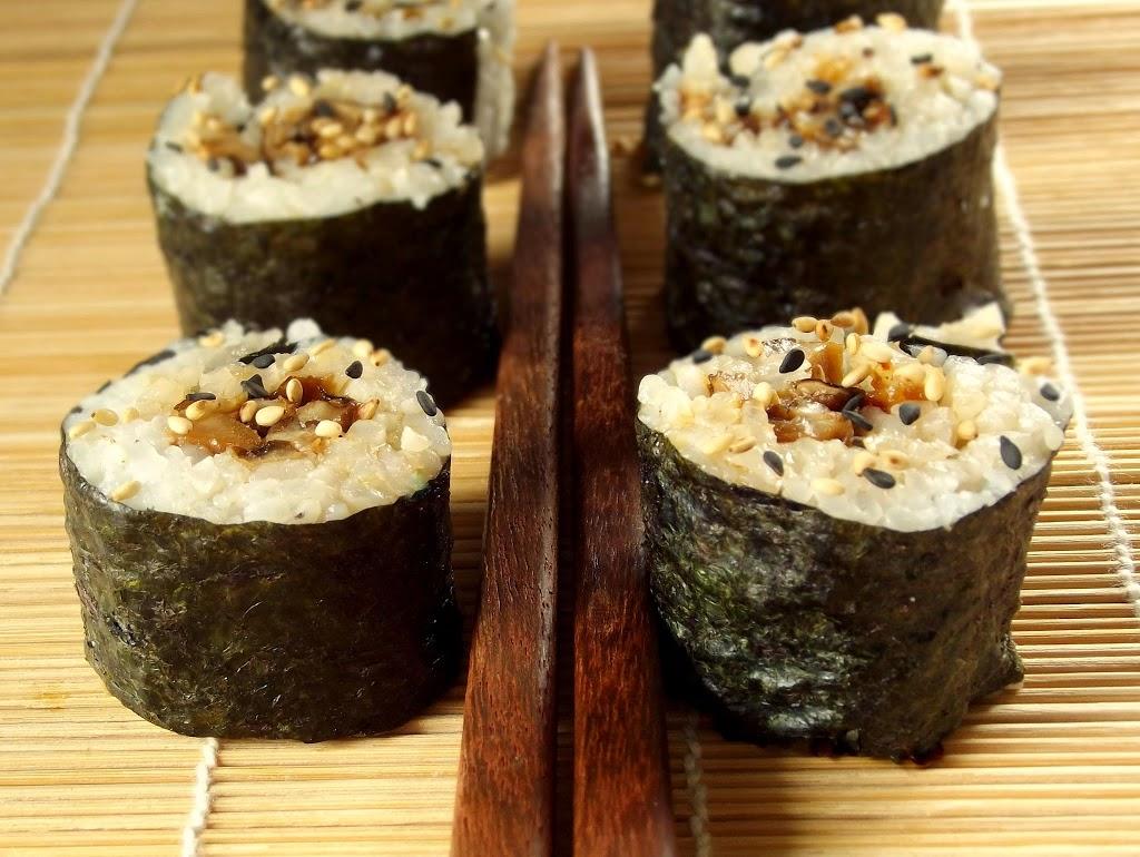 Sesame Shiitake Sushi