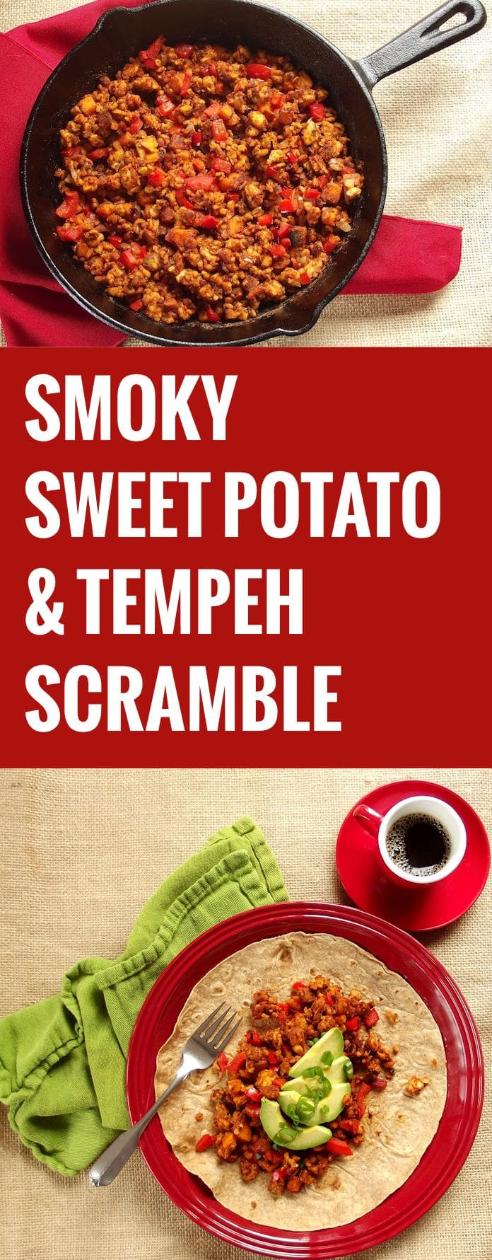 Smoky Sweet Potato Tempeh Scramble