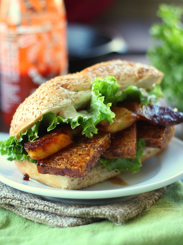 Pineapple Teriyaki Tofu Sandwiches
