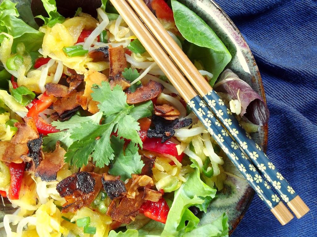 Thai Green Mango Salad with Coconut Bacon
