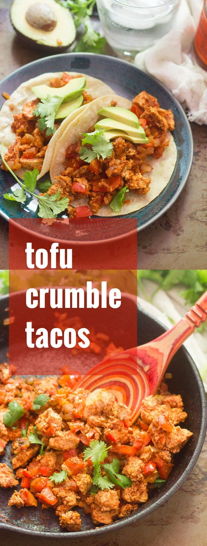 Tofu Crumble Tacos + How to Freeze Tofu for Awesome Texture!