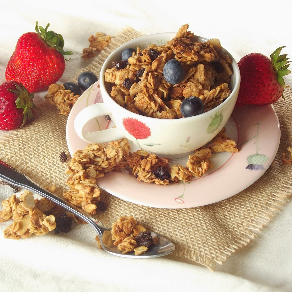 Maple Bourbon Almond Butter Granola