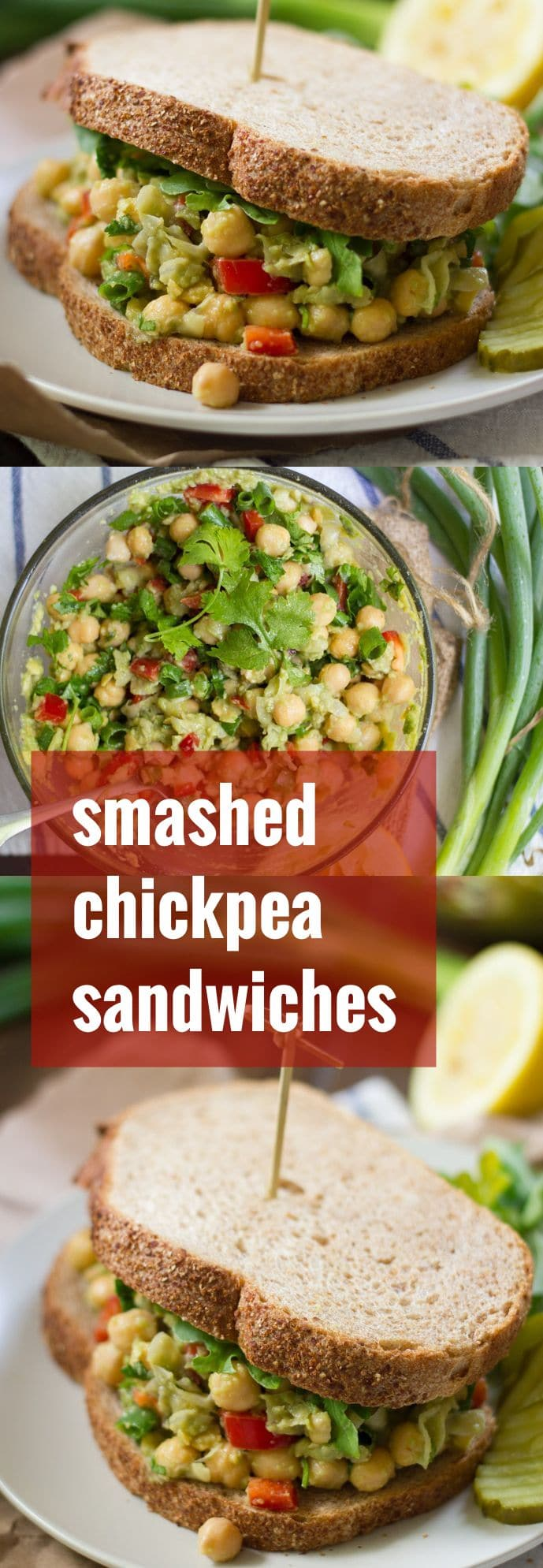 Smashed Chickpea Sandwiches