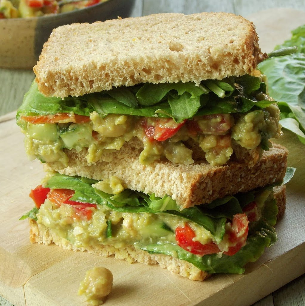 Smoky Smashed Chickpea Avocado Sandwich