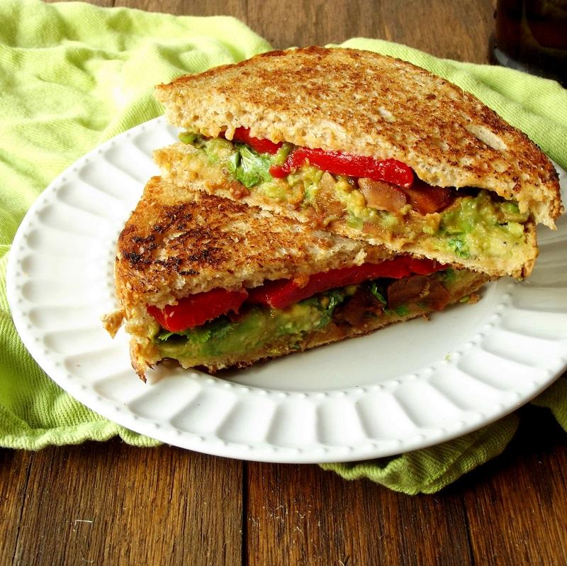 Vegan Avocado Melt with Coconut Bacon - Connoisseurus Veg