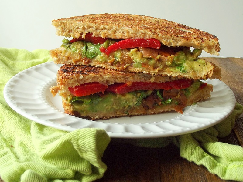 Vegan Avocado Melt with Coconut Bacon