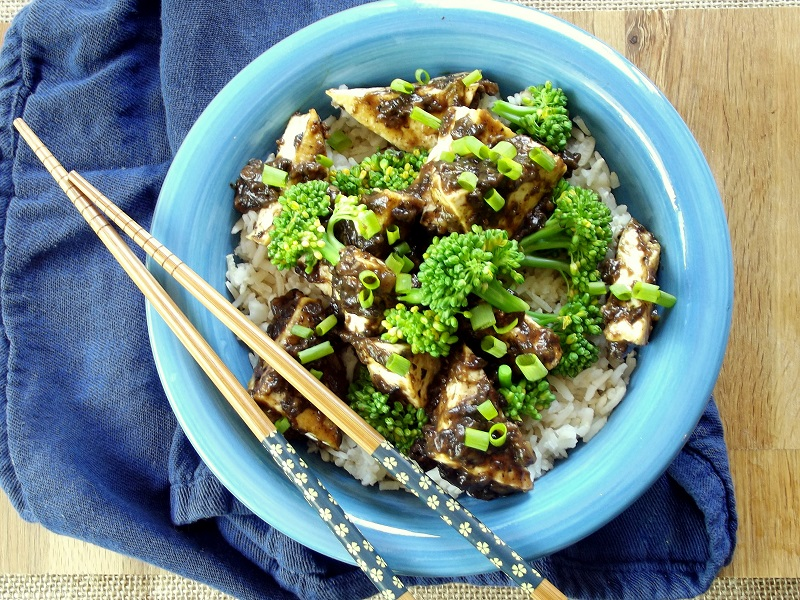Crispy Tofu with Chinese Black Bean Sauce