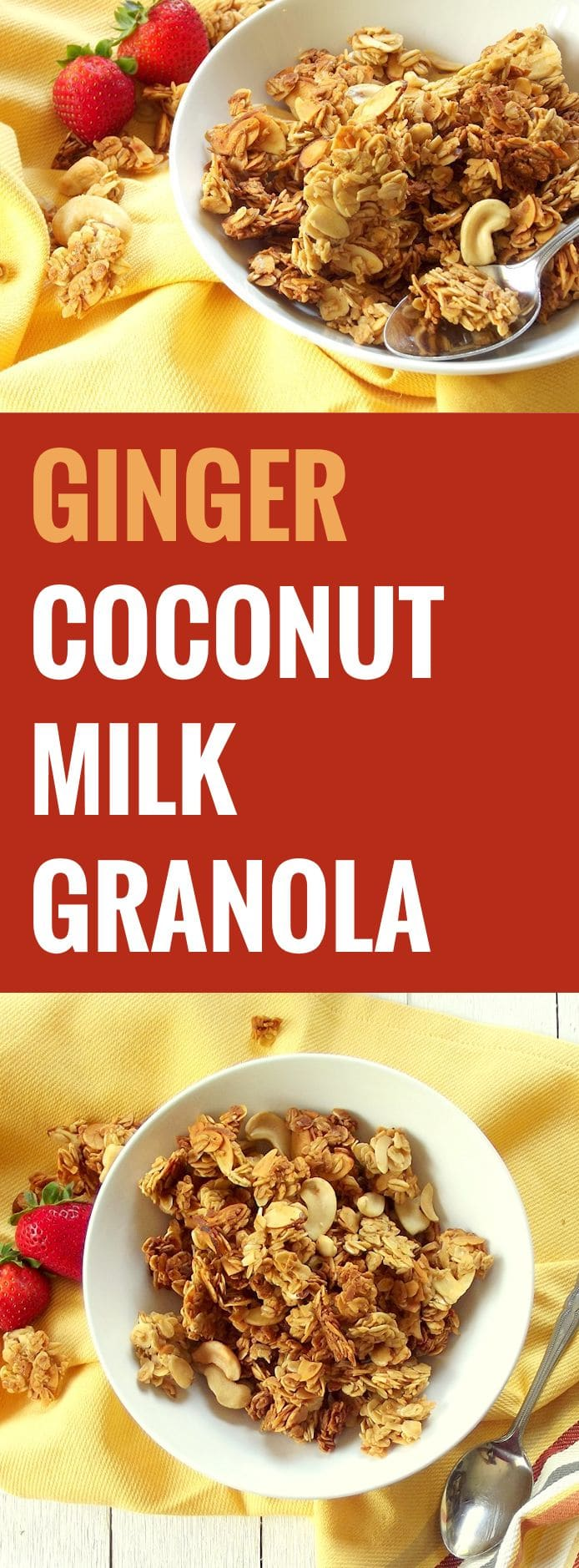 GINGER COCONUT GRANOLA TEXT