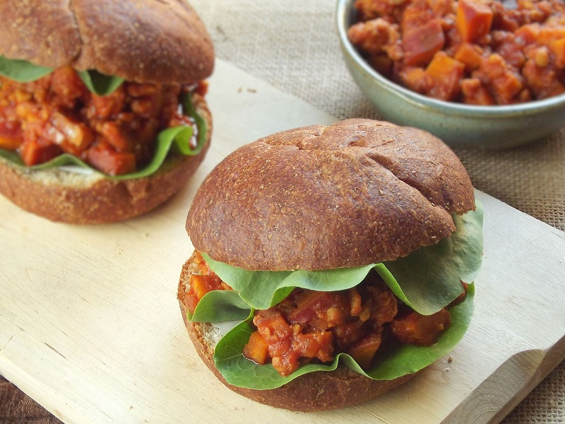 barbecue porter tempeh sandwich ang
