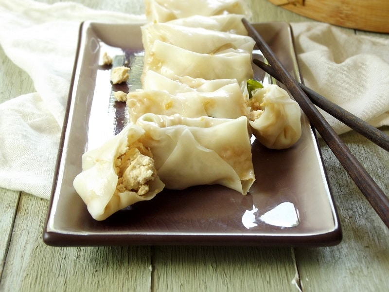Steamed Tofu Potstickers