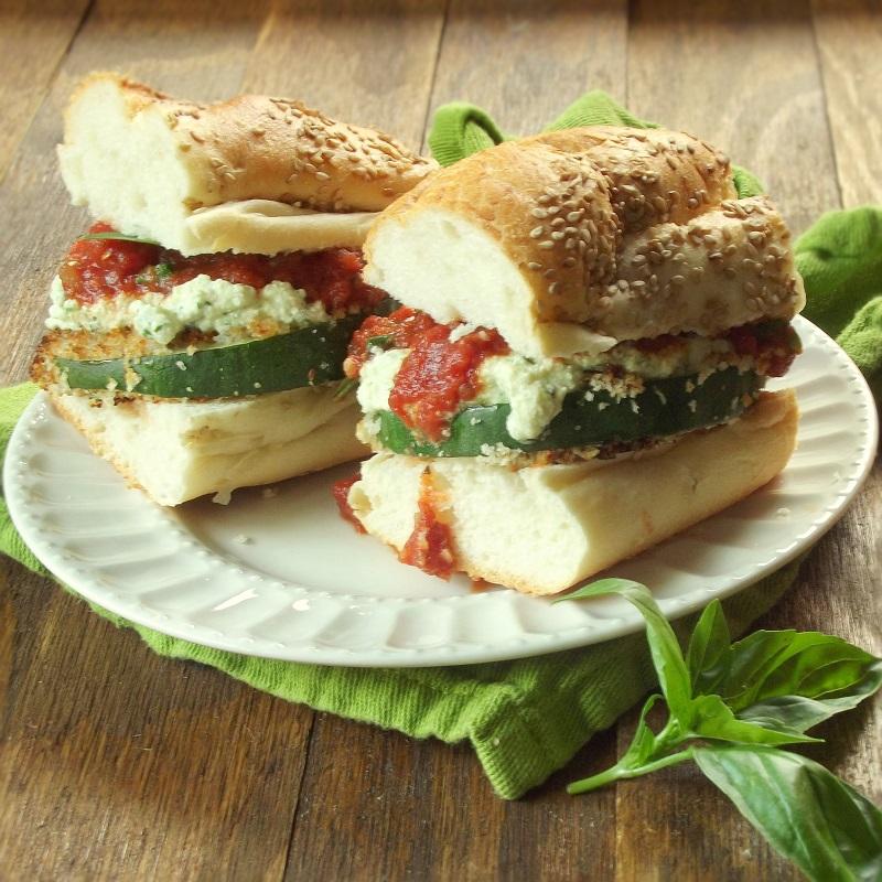 Panko Crusted Zucchini Lasagna Sandwiches