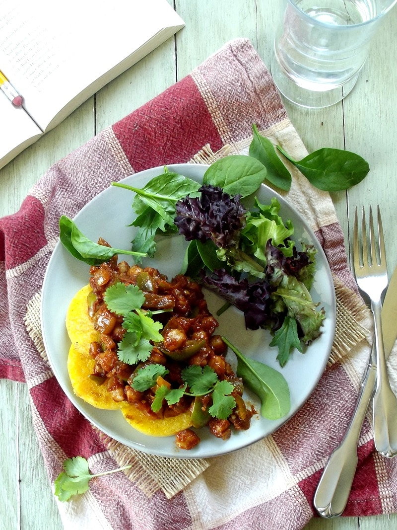 berbere chickpeas and polenta top portrait