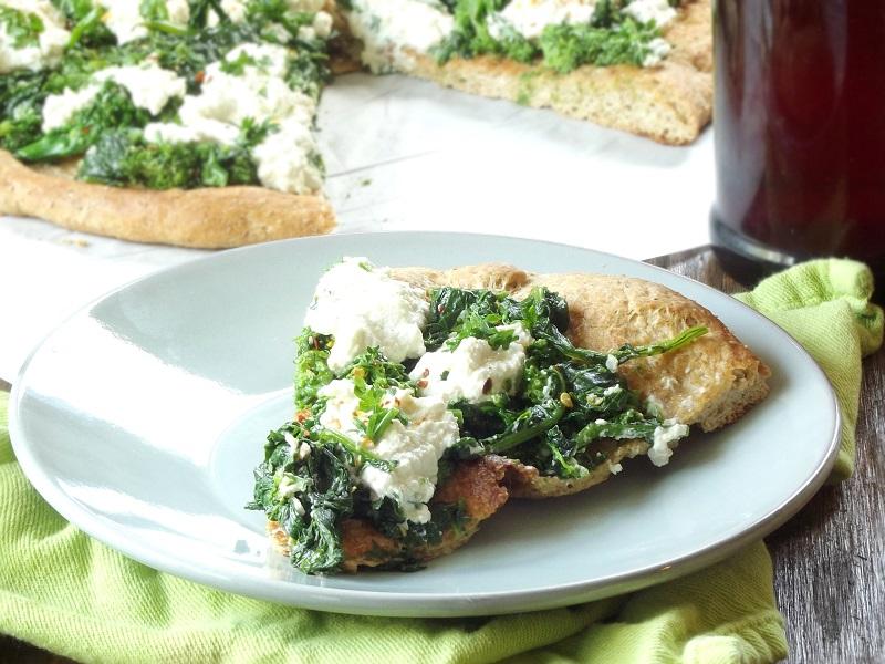 Vegan Broccoli Rabe & Cashew Ricotta White Pizza