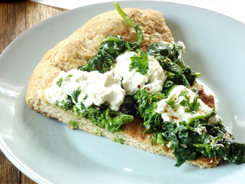 Vegan Broccoli Rabe White Pizza