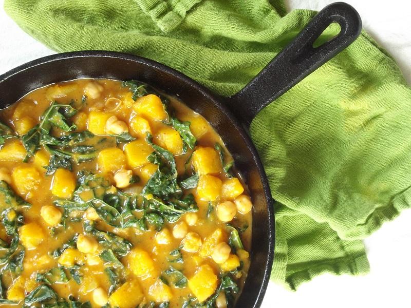 butternut curry skillet
