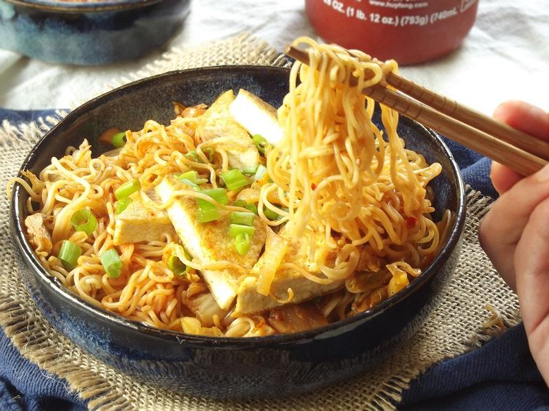 recipe vegetarian ramen kimchi ramen kimchi chopsticks