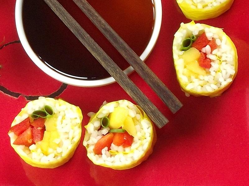 Mango Red Pepper Sushi