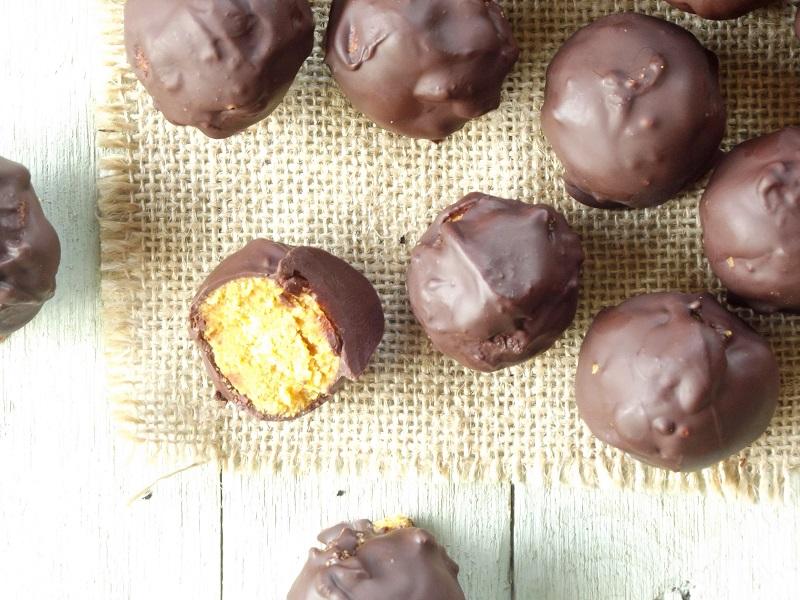 pumpkin truffles top scatter
